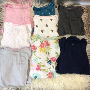 Assorted 6-9months long sleeve onesies